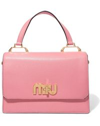 Miu Miu - My Miu Textured-leather Tote - Lyst