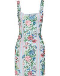 Emilia Wickstead - Judita Floral-print Cloqué Mini Dress - Lyst