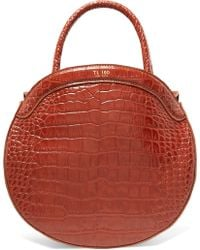 Tl-180 - Panier Croc-effect Leather Tote - Lyst