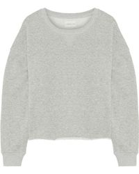 Simon Miller - Frayed French Cotton-terry Sweatshirt - Lyst
