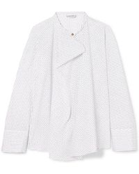 Lemaire - Pinstriped Cotton-poplin Blouse - Lyst