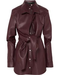 Y. Project - Layered Faux Leather Mini Dress - Lyst
