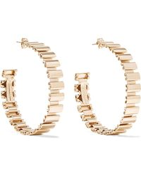 Rosantica - Casta Gold-tone Hoop Earrings - Lyst