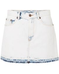 Marc Jacobs - Frayed Denim Mini Skirt - Lyst