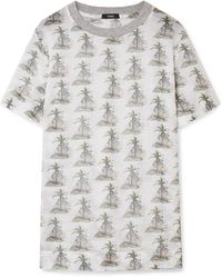Bassike - Printed Cotton-gauze T-shirt - Lyst