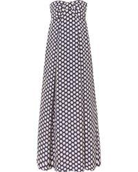 J.Crew - Bow-embellished Polka-dot Chiffon Maxi Dress - Lyst
