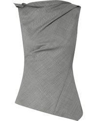 Narciso Rodriguez - Gathered Asymmetric Wool Top - Lyst