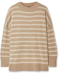 HATCH - The Clementine Oversized Striped Merino Wool Jumper - Lyst