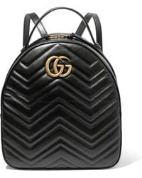 Gucci - Gg Marmont Quilted Leather Backpack - Lyst