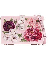 Dolce & Gabbana - Sac Porté épaule En Acrylique à Imprimé Fleuri Dolce Box - Lyst