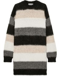 Sonia Rykiel - Oversized Striped Mohair-blend Sweater - Lyst