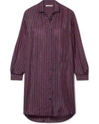Mes Demoiselles - Sox Striped Silk-satin Shirt - Lyst