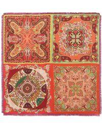 Etro - Goa Printed Silk-twill Scarf - Lyst