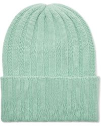The Elder Statesman - Short Bunny Echo Ribbed Cashmere Beanie - Lyst