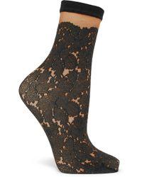 Falke - Glace 30 Denier Printed Socks - Lyst