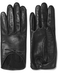 Agnelle - Josie Bow-embellished Leather Gloves - Lyst
