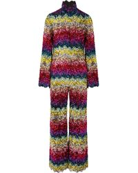 Ashish - Scalloped Sequined Silk-georgette Jumpsuit - Lyst