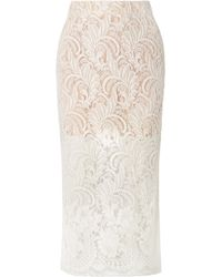 Stella McCartney - Wool-blend Guipure Lace Midi Skirt - Lyst