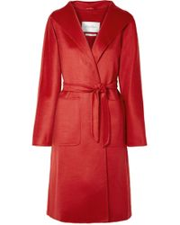 Max Mara - Lilia Belted Brushed-cashmere Coat - Lyst