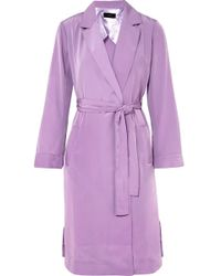 J.Crew - Belted Satin Coat - Lyst