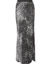 Nili Lotan - Maya Leopard-print Silk-satin Maxi Skirt - Lyst