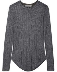 IRO - Skogik Metallic Pointelle-knit Top - Lyst