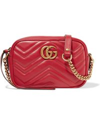 Gucci - Gg Marmont Camera Mini Quilted Leather Shoulder Bag - Lyst