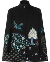 Vilshenko - Embroidered Twill Cape - Lyst