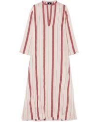 Su Paris - Kiku Striped Cotton-gauze Kaftan - Lyst