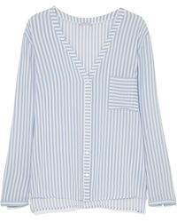 Hanro - Sleep & Lounge Striped Voile Pajama Top - Lyst