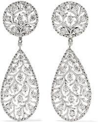 Buccellati - Ramage 18-karat White Gold Diamond Earrings - Lyst