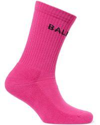 Balenciaga - Intarsia Cotton-blend Jersey Socks - Lyst