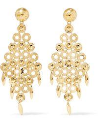 Prada - Gold-tone Earrings - Lyst