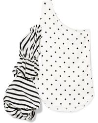 Silvia Tcherassi - Poggio One-shoulder Printed Silk-blend Top - Lyst