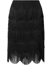 Marc Jacobs | Fringed Crepe Skirt | Lyst