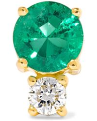 Jemma Wynne - 18-karat Gold, Emerald And Diamond Earring - Lyst