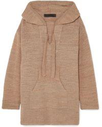 The Elder Statesman - Baja Hooded Cashmere Sweater - Lyst