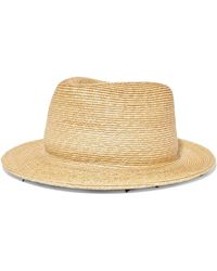 Yunotme - Micha Lace-trimmed Straw Panama Hat - Lyst