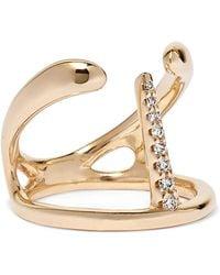 Hirotaka - Manta Spine 10-karat Gold Diamond Ring - Lyst