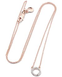 Monica Vinader | Riva Rose Gold Vermeil Diamond Necklace | Lyst