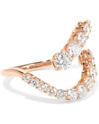 Melissa Kaye - Aria Skye 18-karat Rose Gold Diamond Ring Rose Gold 7 - Lyst