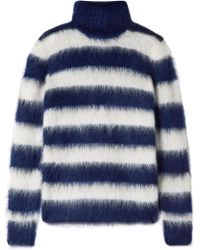 Michael Kors - Striped Mohair-blend Turtleneck Sweater - Lyst