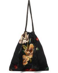 Attico - Floral-print Velvet Pouch - Lyst