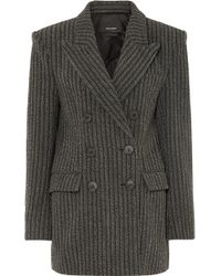Isabel Marant - Double Breasted Coat - Lyst