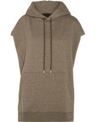 ATM - Cotton-blend Hooded Sweatshirt - Lyst