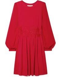 MICHAEL Michael Kors - Lace-trimmed Stretch-jersey Mini Dress - Lyst