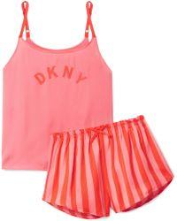 DKNY - Walk The Line Printed Jersey Pyjamas - Lyst