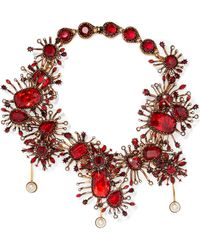 Alexander McQueen - Gold-plated, Crystal And Faux Pearl Necklace - Lyst