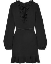 Giambattista Valli - Ruffled Crepe Mini Dress - Lyst