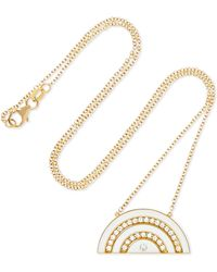 Andrea Fohrman - Rainbow 18-karat Gold, Diamond And Enamel Necklace - Lyst